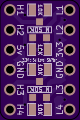 Mosfet 4-channel level shifter back