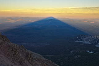 Lassen Peak Shadow at Sunset